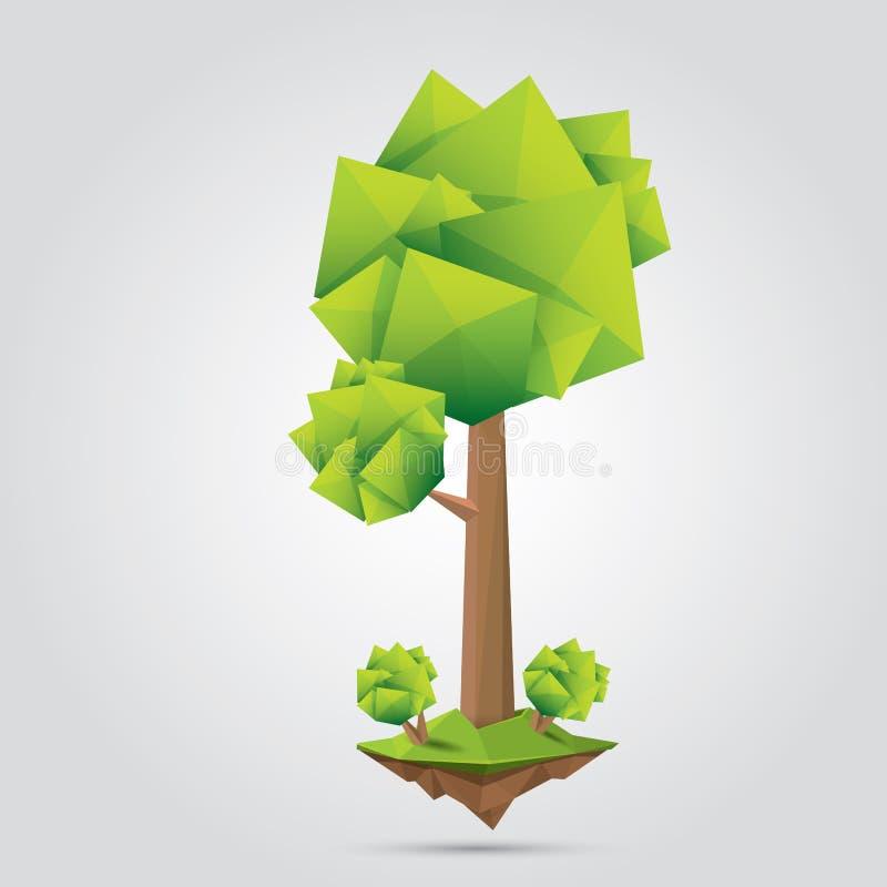 Conceptual polygonal tree. vector Illustration royalty free illustration