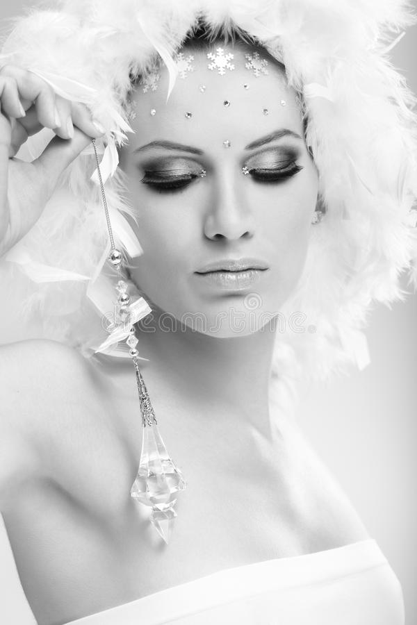 Download Conceptual Portrait Of Woman In Winter Makeup Stock Photo - Image: 23376028