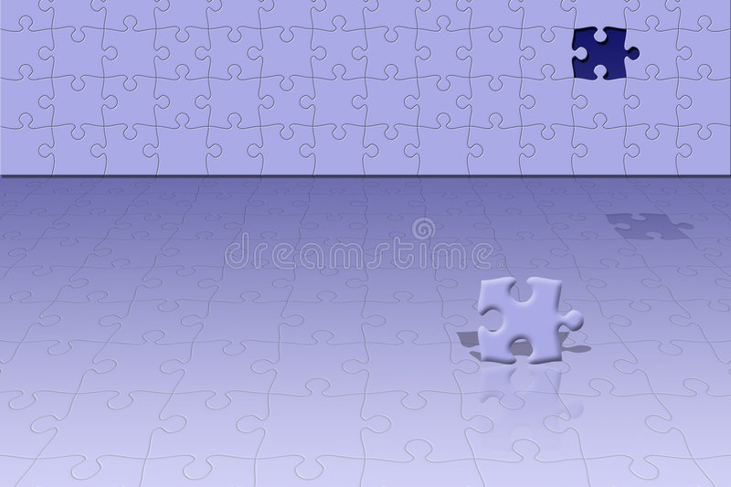 Conceptual puzzle scene stock illustration