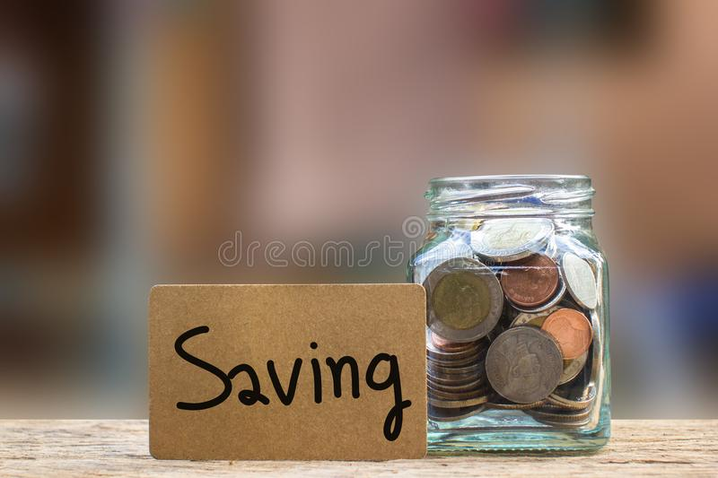 Conceptual saving money for the future or interest. stock photo