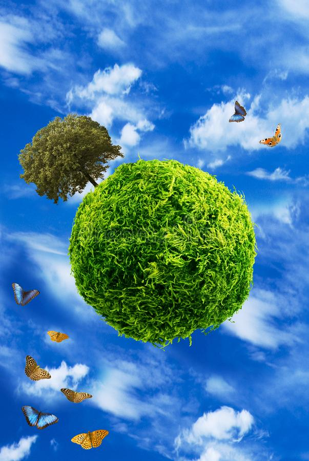 Ecological planet and alternative energies royalty free stock photos