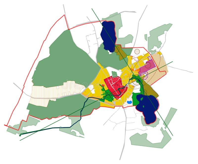 Download Conceptual Scheme, Master Plan, City Map Stock Illustration - Image: 18662432