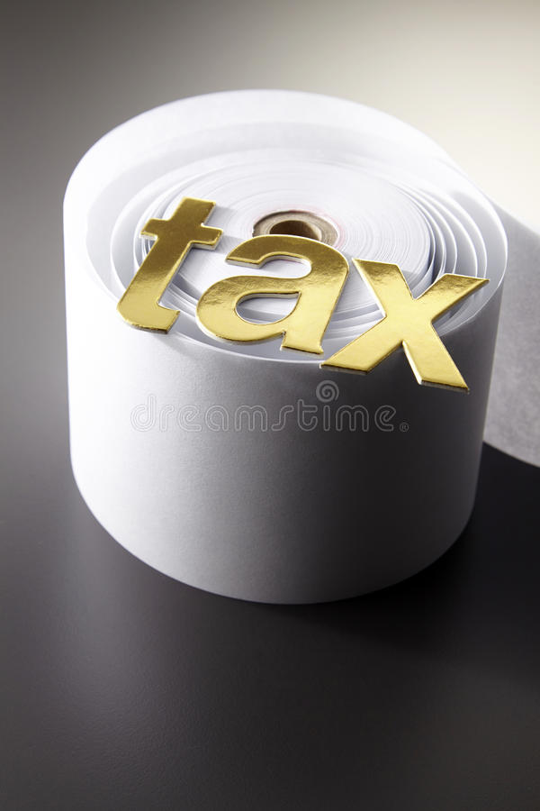 Conceptual shot about taxes stock photo