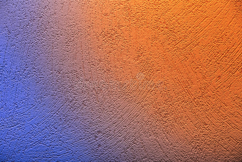 Conceptual shot wallpaper with blue to orange color transition royalty free stock image