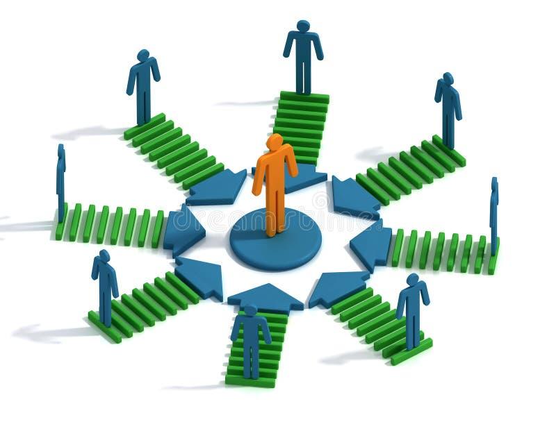 Conceptual teamwork royalty free illustration