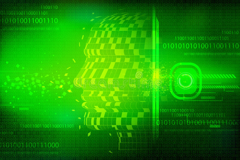 Download Conceptual Technological Background Stock Illustration - Image: 21643262