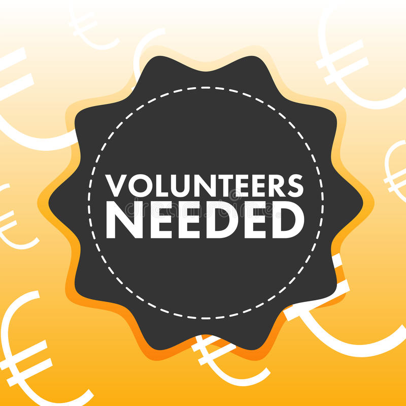 Conceptual vector image of reading volunteer needed royalty free illustration