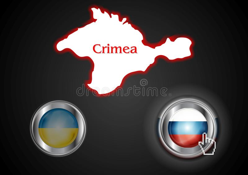 Conceptual view of the situation in Crimea. Vector background stock illustration