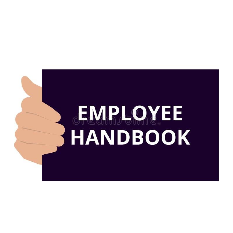 Conceptual writing showing Employee Handbook stock illustration