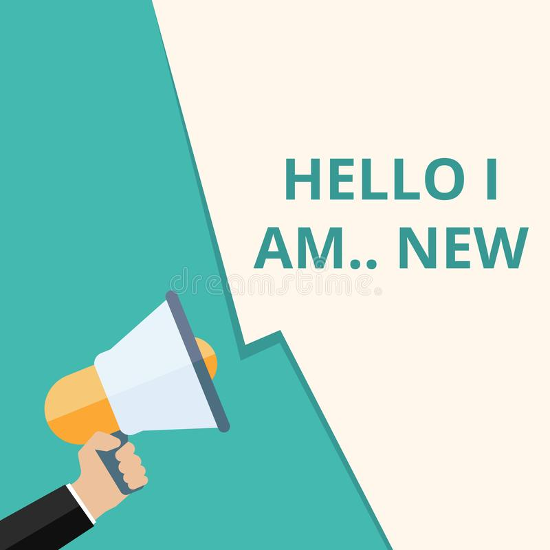 Conceptual writing showing Hello I Am royalty free illustration
