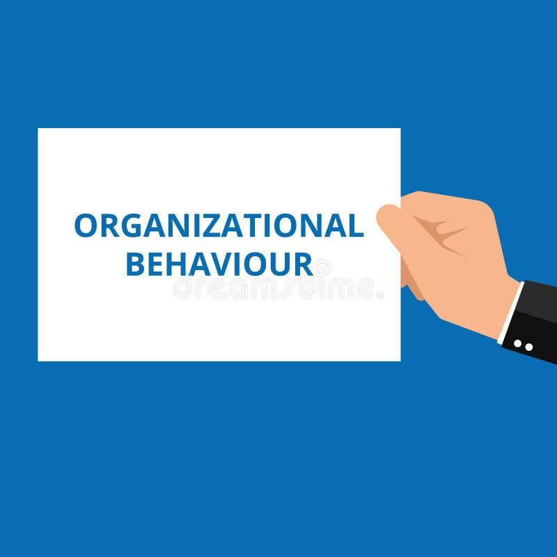 Conceptual writing showing Organizational Behaviour royalty free illustration
