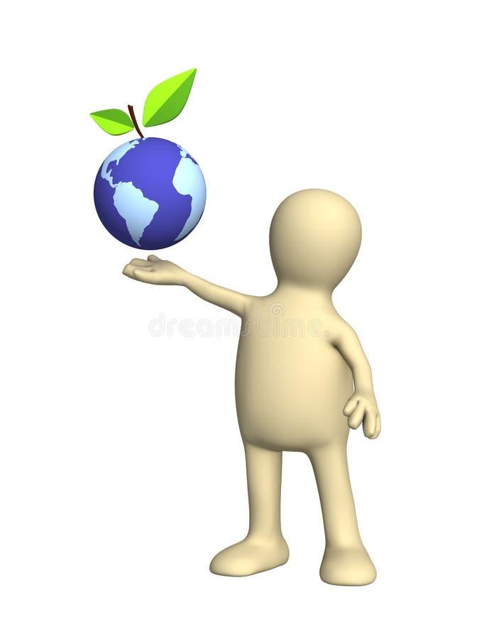 Conceptueel beeld - bescherming van een milieu vector illustratie