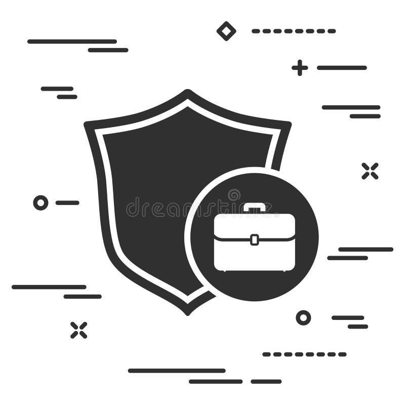 conceptueel beeld van bescherming van individueel bedrijfsgeval ( haven royalty-vrije illustratie