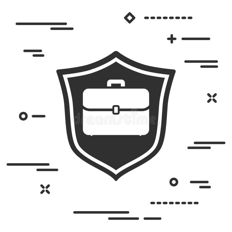 conceptueel beeld van bescherming van individueel bedrijfsgeval ( haven stock illustratie