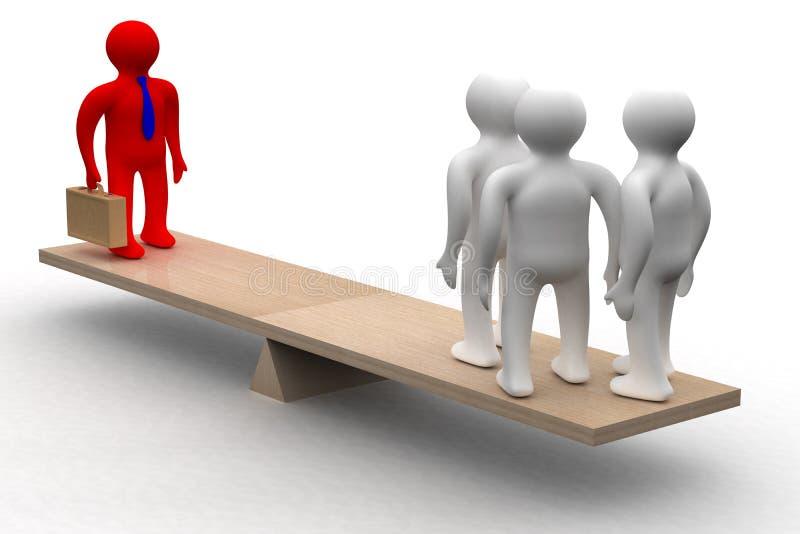 Conceptueel beeld van groepswerk. stock illustratie