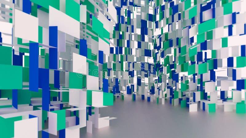 Conceptueel 3D abstract structuurontwerp stock fotografie