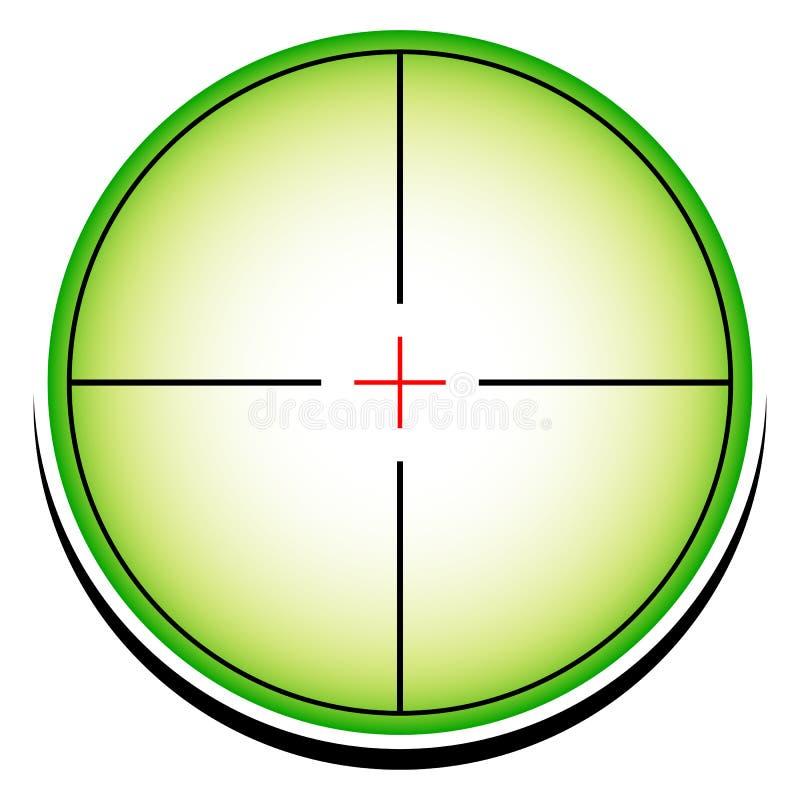 Conceptueel dradenkruis (crosshair) pictogram royalty-vrije illustratie
