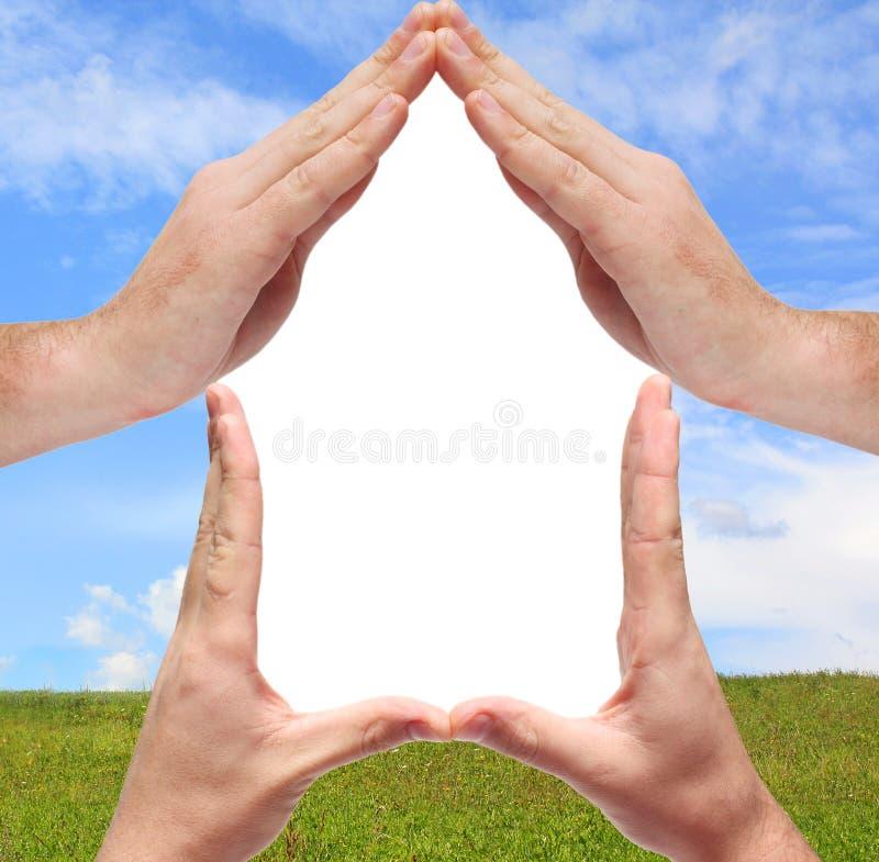 Conceptueel huissymbool stock foto