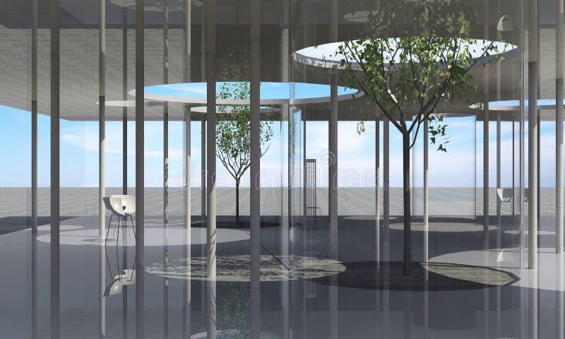 Conceptuele architectuur stock illustratie