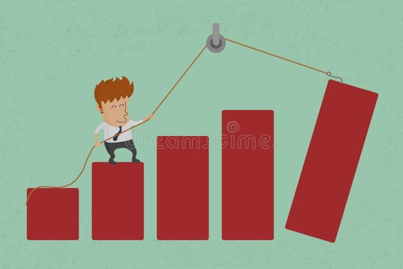 Conceptuele bedrijfsgrafiek vector illustratie