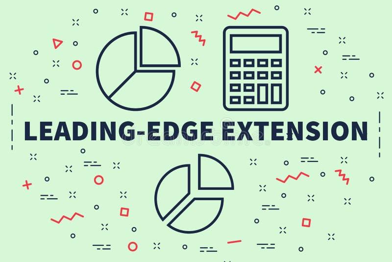 Conceptuele bedrijfsillustratie met de woorden leading-edge Ext. royalty-vrije illustratie