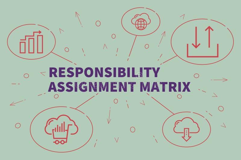 Conceptuele bedrijfsillustratie met de woordenverantwoordelijkheid a vector illustratie
