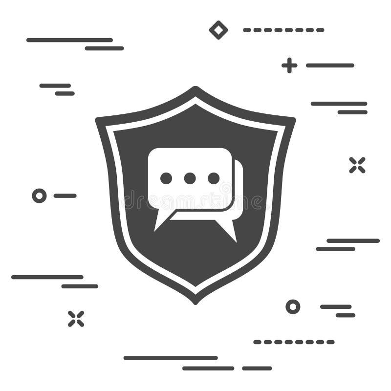 conceptuele beeldbescherming van de mededeling in het netwerk stock illustratie