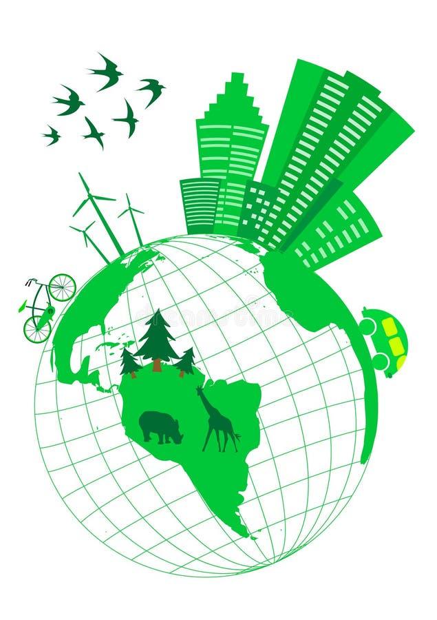 Conceptuele ecologic royalty-vrije illustratie