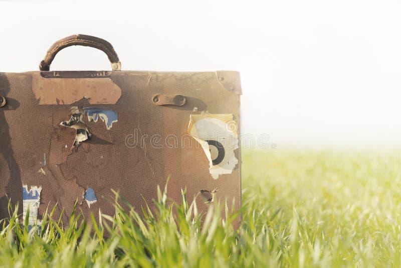 Conceptuele foto van reis en vrijheid stock foto