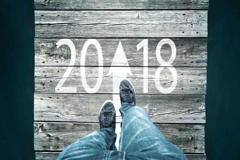 Conceptuele gangen binnen aan nieuw jaar royalty-vrije stock fotografie