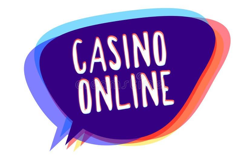 Conceptuele hand die online tonend Casino schrijven Van de de Computerpook van de bedrijfsfototekst het Spelgok Koninklijk Bet Lo royalty-vrije stock foto's