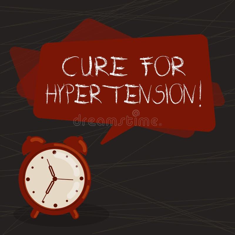 Conceptuele hand die tonend Behandeling voor Hypertensie schrijven Bedrijfsfototekst die behandeling ertoe brengen om de bloeddru vector illustratie