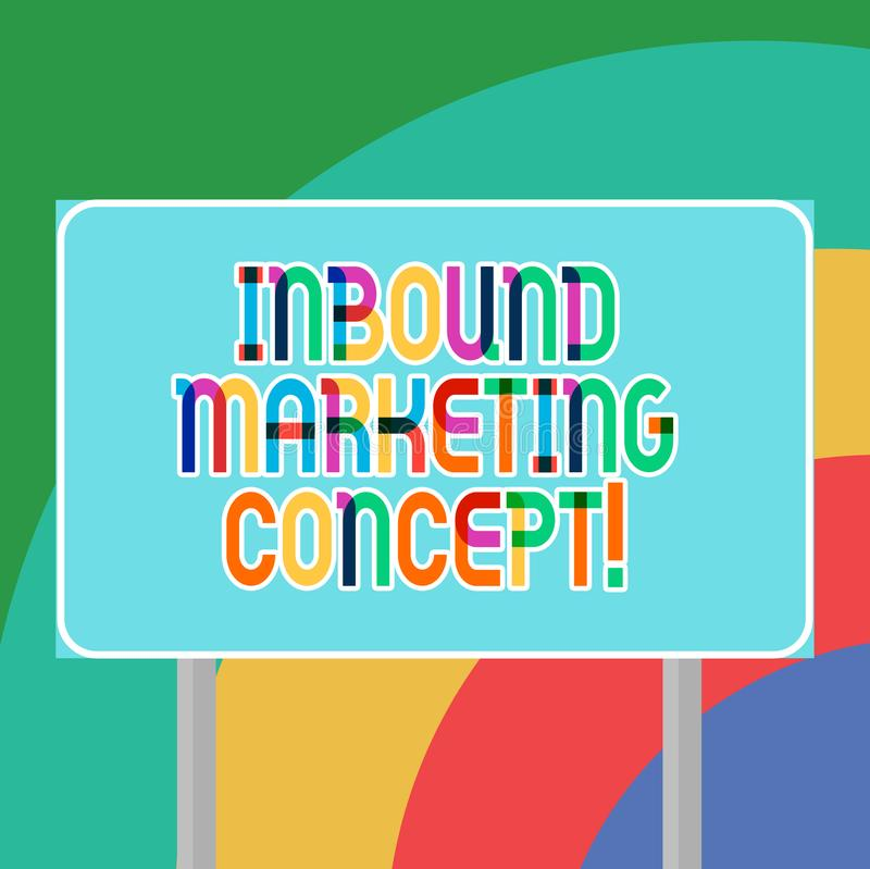 Conceptuele hand die tonend Binnenkomend Marketing Concept schrijven Bedrijfsfoto demonstratiestrategie die zich bij het aantrekk vector illustratie