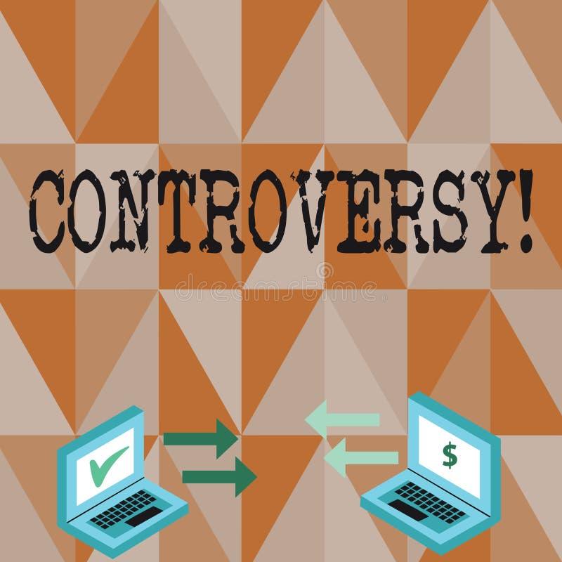 Conceptuele hand die tonend Controverse schrijven Het Meningsverschil of het Argument van de bedrijfsfototekst over iets belangri royalty-vrije illustratie