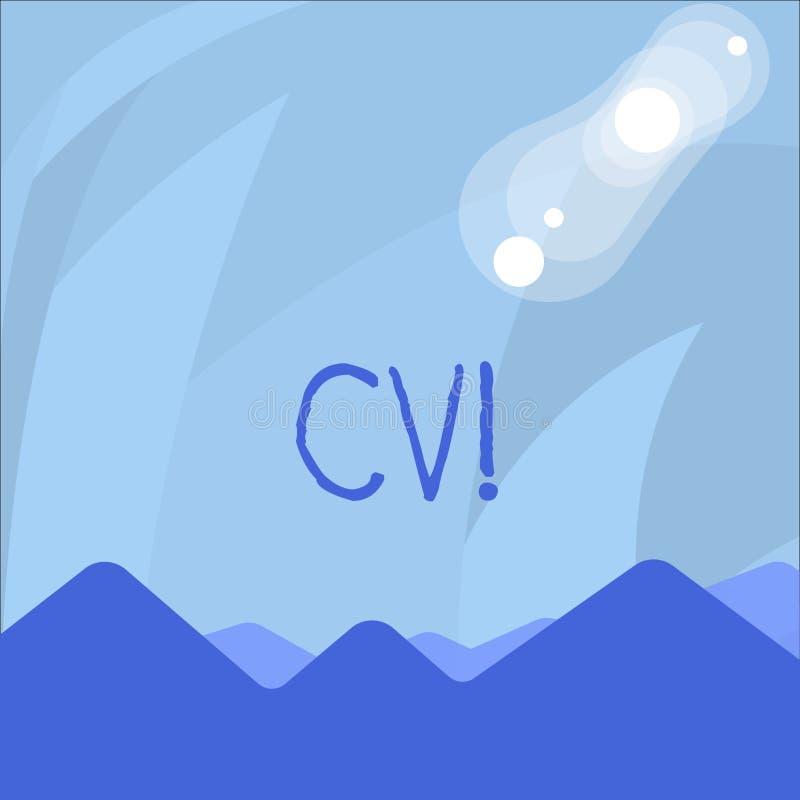 Conceptuele hand die tonend Cv schrijven Het bedrijfsfoto demonstratiecurriculum vitae hervat Infographics-Baan het Zoeken vector illustratie