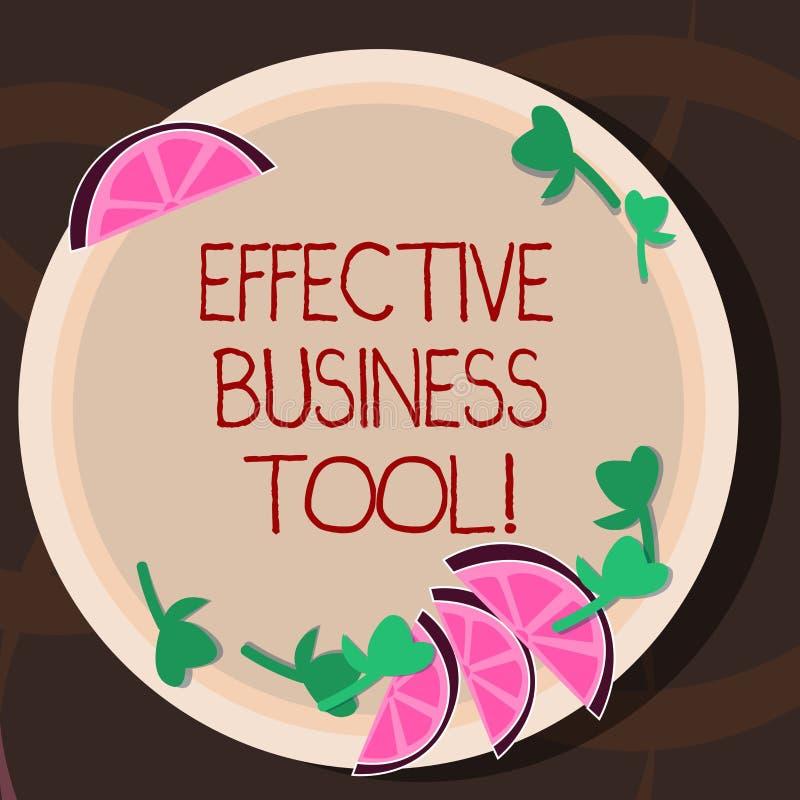 Conceptuele hand die tonend Efficiënt Zakelijk hulpmiddel schrijven Bedrijfsfoto demonstratie gebruikt om bedrijfsprocessen te co vector illustratie