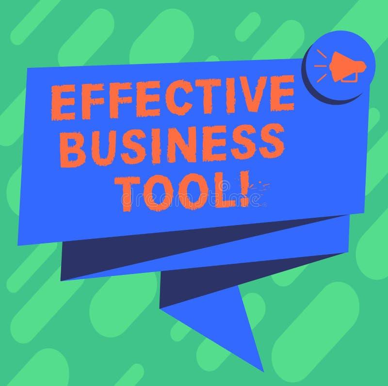 Conceptuele hand die tonend Efficiënt Zakelijk hulpmiddel schrijven Bedrijfsfoto demonstratie gebruikt om zaken te controleren en vector illustratie