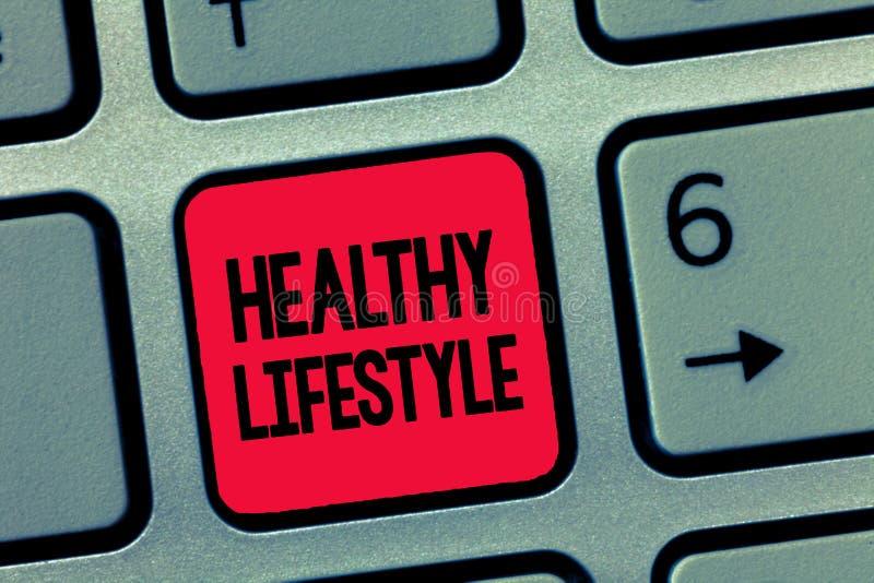 Conceptuele hand die tonend Gezonde Levensstijl schrijven Bedrijfsfototekst Live Healthy Engage in fysische activiteit en royalty-vrije stock fotografie