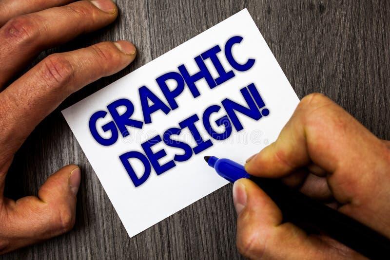 Conceptuele hand die tonend Grafisch Ontwerp Motievenvraag schrijven Bedrijfsfoto demonstratiekunst van het combineren van Tekstb stock foto