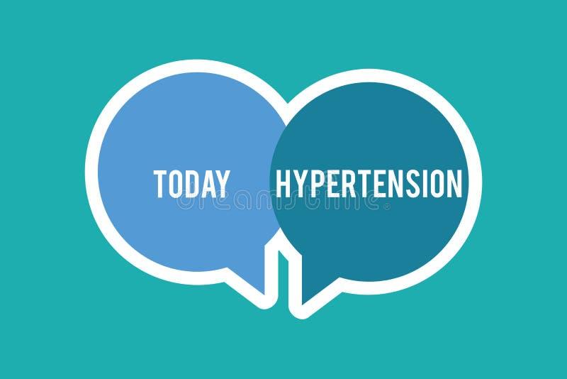 Conceptuele hand die tonend Hypertensie schrijven De Medische voorwaarde van de bedrijfsfototekst waarin de bloeddruk uiterst is stock illustratie