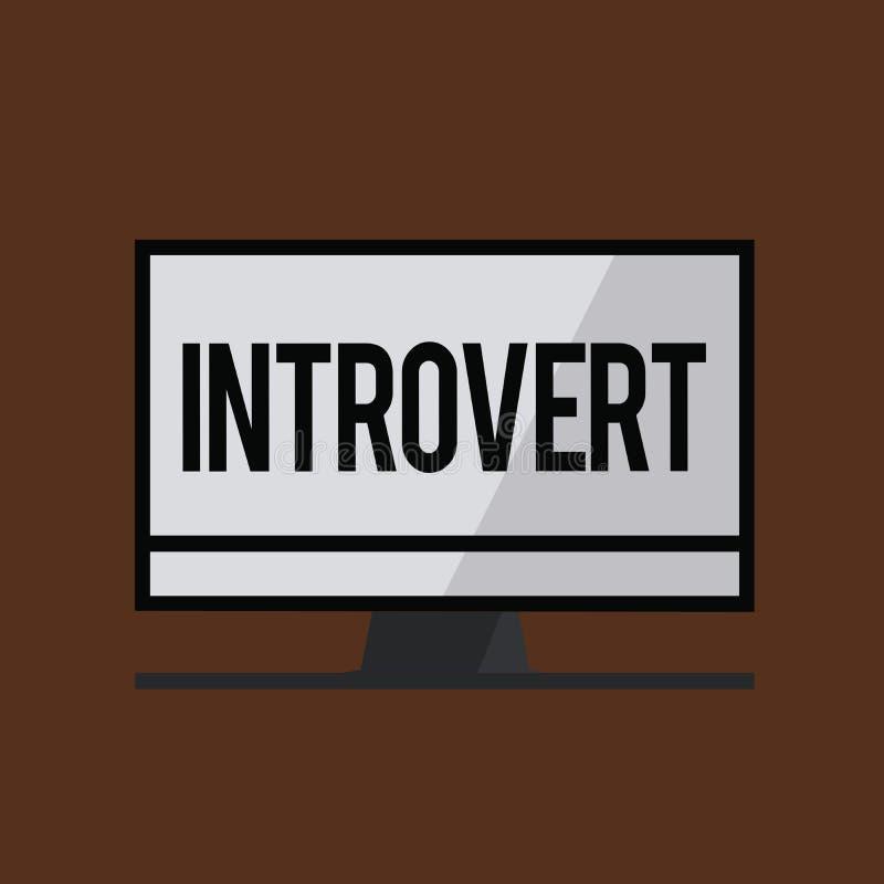 Conceptuele hand die tonend Introvert schrijven De bedrijfsfoto demonstratie neigt te zijn het binnenkomende draaien of concentre vector illustratie