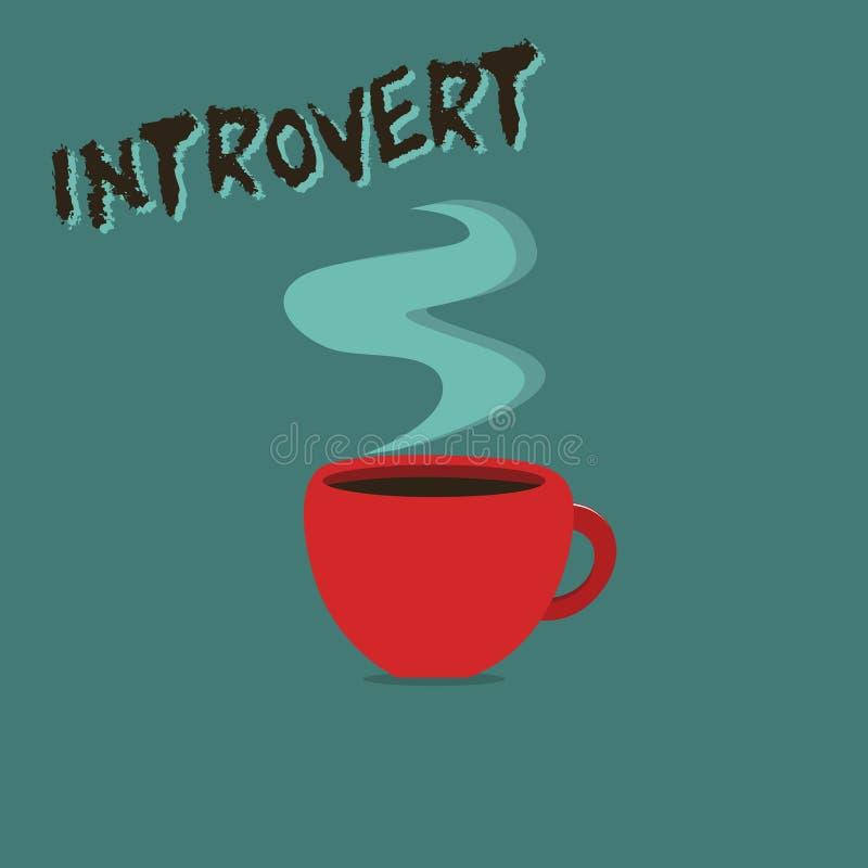 Conceptuele hand die tonend Introvert schrijven De bedrijfsfoto demonstratie neigt te zijn het binnenkomende draaien of concentre stock illustratie