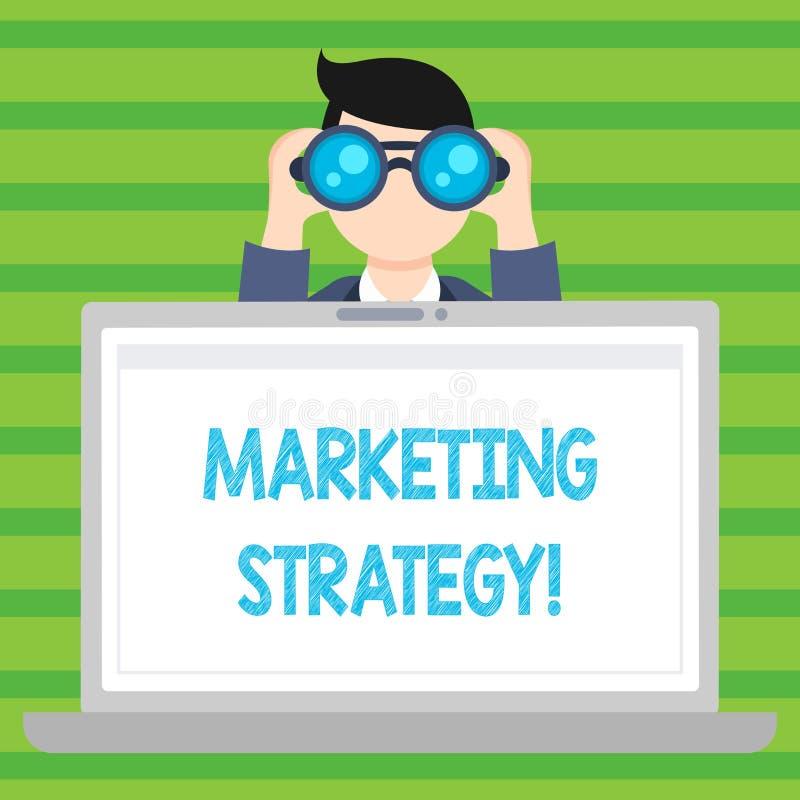Conceptuele hand die tonend Marketing Strategie schrijven Van de het Planformule van de bedrijfsfototekst de Organisatie van het  stock illustratie