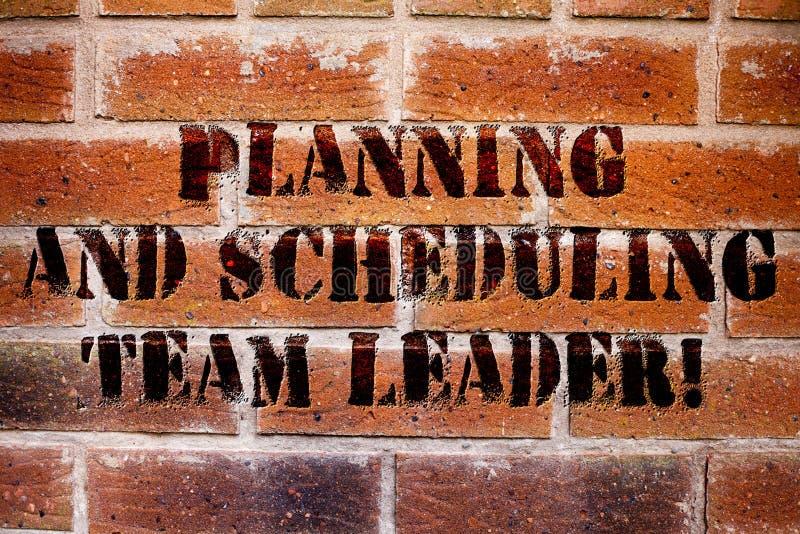 Conceptuele hand die tonend Planning en Plannend Team Leader schrijven Het Projectanalysisagement van de bedrijfsfototekst royalty-vrije stock afbeeldingen