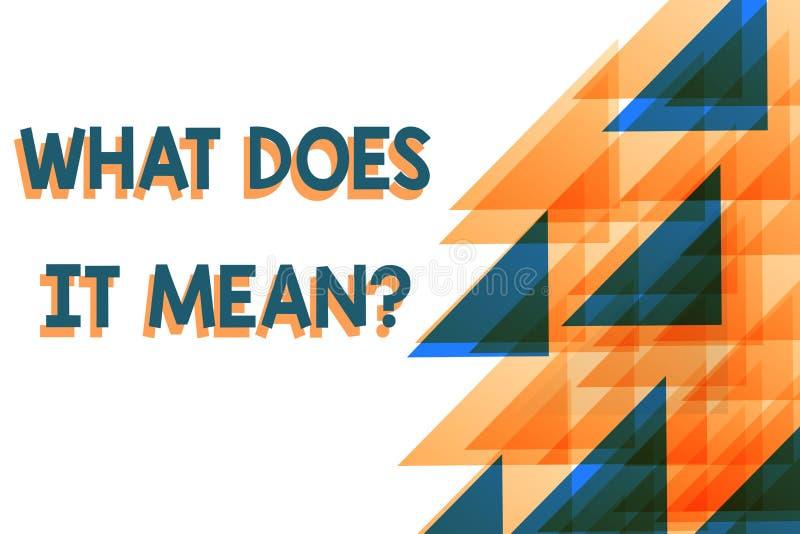 Conceptuele hand die tonend schrijven wat het Vraag betekent De bedrijfsfoto demonstratie bedoelde onduidelijk mee te delen vector illustratie