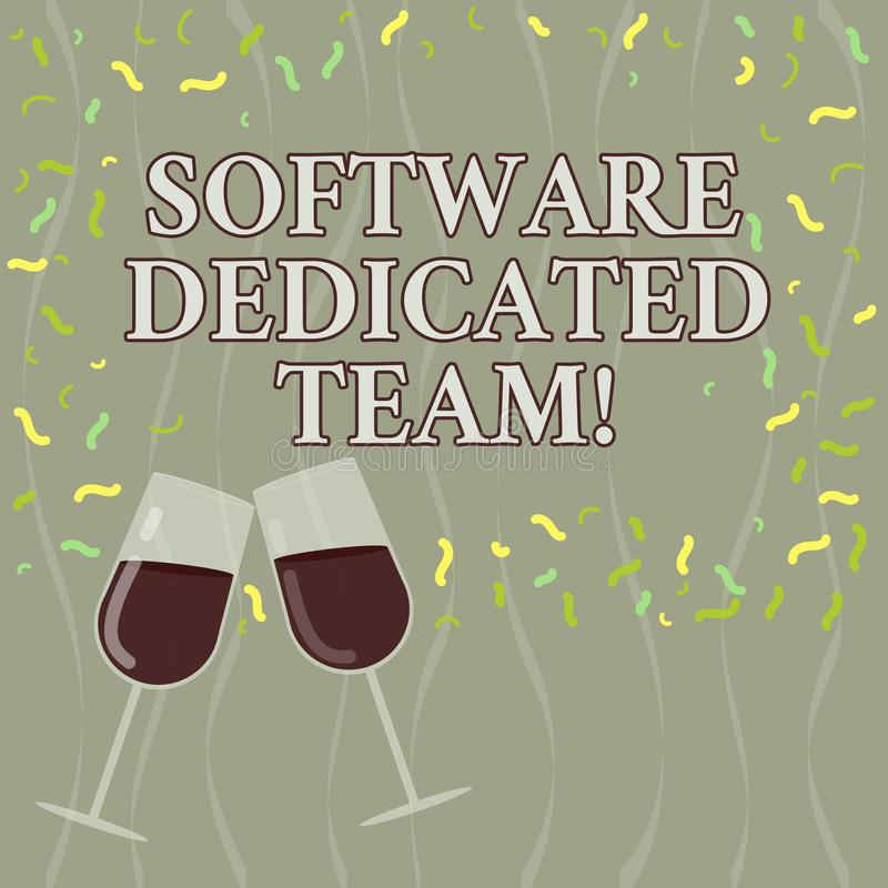 Conceptuele hand die tonend Software Specifiek Team schrijven Van de bedrijfs bedrijfsfototekst benadering van app en Web vector illustratie
