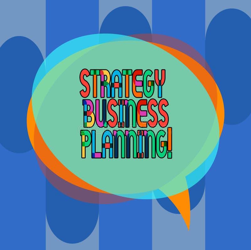 Conceptuele hand die tonend Strategie Bedrijfs Planning schrijven De bedrijfsfoto demonstratie schetst een organisatie s is stock illustratie