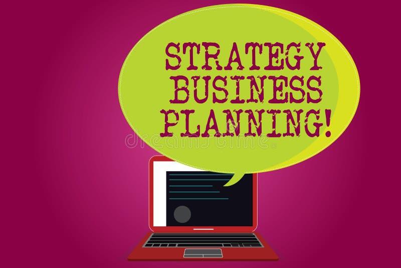 Conceptuele hand die tonend Strategie Bedrijfs Planning schrijven De bedrijfsfototekst schetst een organisatie s algemeen is stock illustratie
