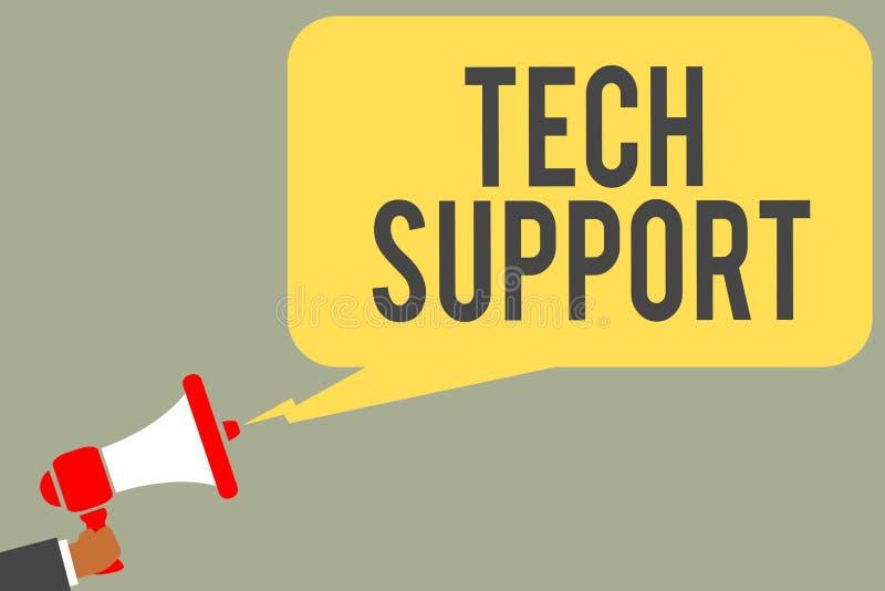 Conceptuele hand die tonend Technologie-Steun schrijven De Bijwonende individuen van de bedrijfsfototekst die de greep van de tec vector illustratie