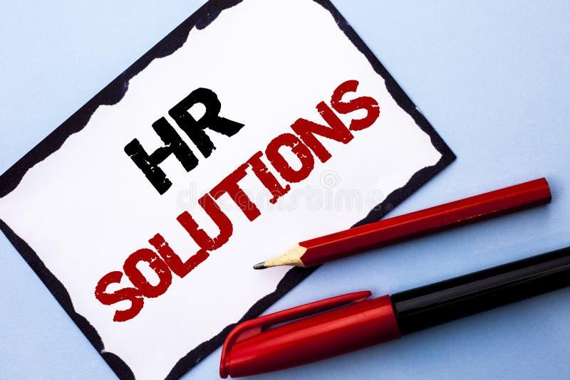 Conceptuele hand die tonend U-Oplossingen schrijven De Rekruteringsoplossing van de bedrijfsfototekst het Raadplegen Beheer die O royalty-vrije stock afbeelding